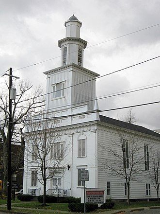 National Register of Historic Places listings in Erie County, New York - Image: Lancaster Presbyterian Church Lancaster NY Nov 09