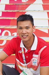 Lance Tan Wei Sheng track and field sprint athlete who competes internationally for The Republic of Singapore
