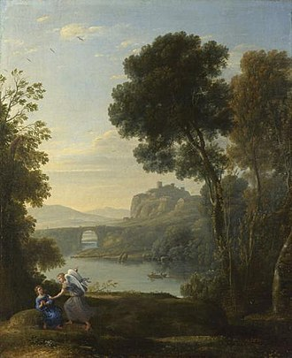 Sir George Beaumont, 7th Baronet - Landscape with Hagar and the Angel (Claude, 1646), Beaumont's favourite painting