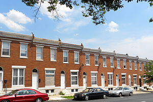 National Register of Historic Places listings in East and Northeast Baltimore - Image: Lanvale & Washington Bmore East HD