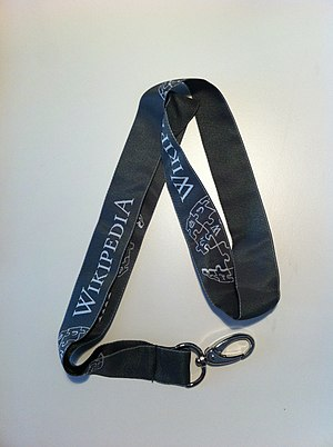 English: Wikipedia lanyards from Wikimedia Deu...