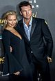 Lara Bingle and Sam Worthington on 2014 AACTAS Awards red carpet (cropped).jpg
