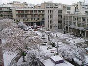 Η πλατεία Ρήγα Φεραίου, χειμωνιάτικη άποψη