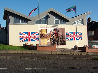Royal Irish Regiment (1992) - A mural in Ulster supporting for the RIR regiment, 2014