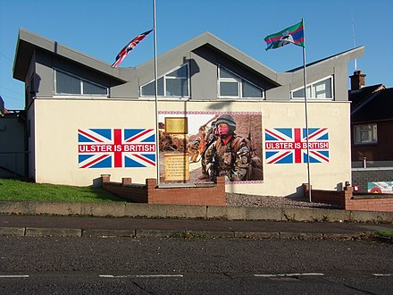 A mural in Ulster supporting for the Royal Irish Regiment Larne RIR mural.jpg