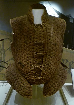 Border Reivers - A leather jack of the kind worn by reivers in the 16th century