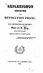 Reflexionou christen var revolution franç