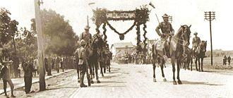 Polish–Czechoslovak War - Czechoslovak legionaries leaving for Cieszyn Silesia