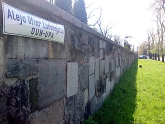 Massacres of Poles in Volhynia and Eastern Galicia - Memorial OUN-UPA Genocide Victims' Avenue located in the city of Legnica, Poland