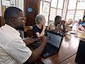 Les bibliothécaires en réunion avec les Wikipédiens de Kinshasa.jpg
