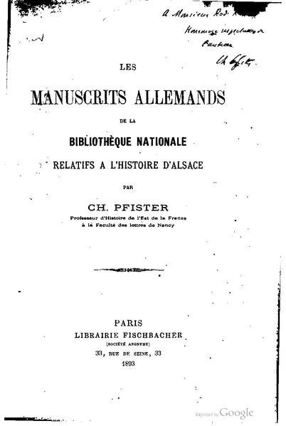 File:Les manuscrits allemands de la Bibliothéque Nationale relatifs à l'histoire d'Alsace.pdf