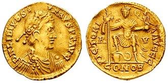 Libius Severus - Solidus of Emperor Libius Severus