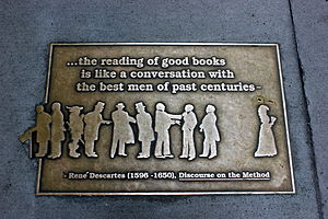 "Discourse on the Method - "".... the reading of good books is like a conversation with the best men of past centuries"""