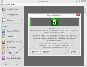 LibreOffice ro start screen