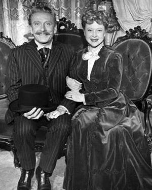 Life With Father - Leon Ames and Lurene Tuttle in the television version, 1954.