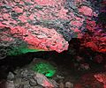 Lighting on Rocks making coral formations Kungur Ice Caves Russia (14285646559).jpg