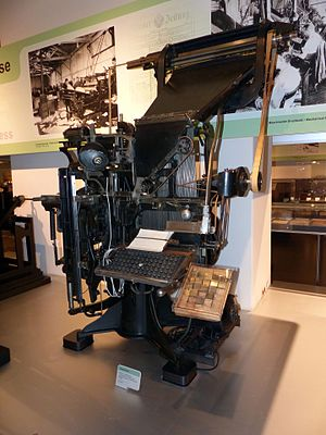 Linotype machine - Linotype Simplex 1895