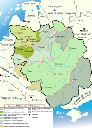 Family of Gediminas - Expansion of the Lithuanian state during the 13th-15th centuries