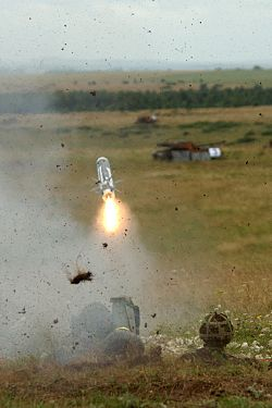 Live firing of the Light Forces Anti-Tank Guided Weapon (LFATGW) Javelin. MOD 45145921.jpg