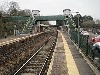 Llandaf railway station - Image: Llandaf railway station, Cardiff (geograph 5267850)