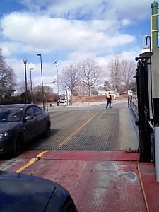 Loading the 'MV Glenora' ferry at Adolphustown.jpg