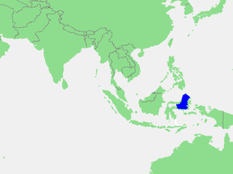 Molucca Sea - Location of the Molucca Sea within Southeast Asia