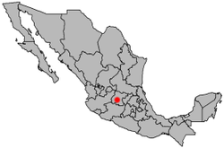 Location of Irapuato in Mexico