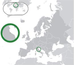 San Marino - Localizzazione
