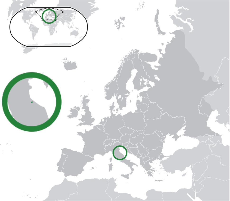 Location of San Marino(green) in Europe(dark grey) – [Legend]