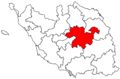 Locator map of the canton de Chantonnay (in Vendée).png