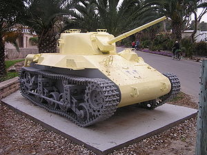 Battles of Negba - Captured Egyptian M22 Locust tank, given as a compromise to Negba in 1953, preserved in the kibbutz