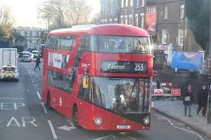 London Buses route 253 - Arriva London New Routemaster  in 2016