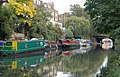 Looking along the Regents Canal to Danbury Street bridge, Islington - geograph.org.uk - 1522177.jpg