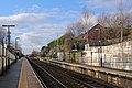 Looking west, Lea Green railway station (geograph 3818903).jpg