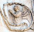 Lorenzo maitani e aiuti, scene bibliche 3 (1320-30) 11 angelo 01.jpg