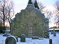 Loudoun Kirk - western gable end from the east.JPG