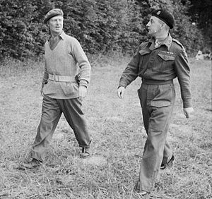 Gerard Bucknall - Bucknall, pictured here on the left with Brigadier Harold Pyman, sometime in 1944.