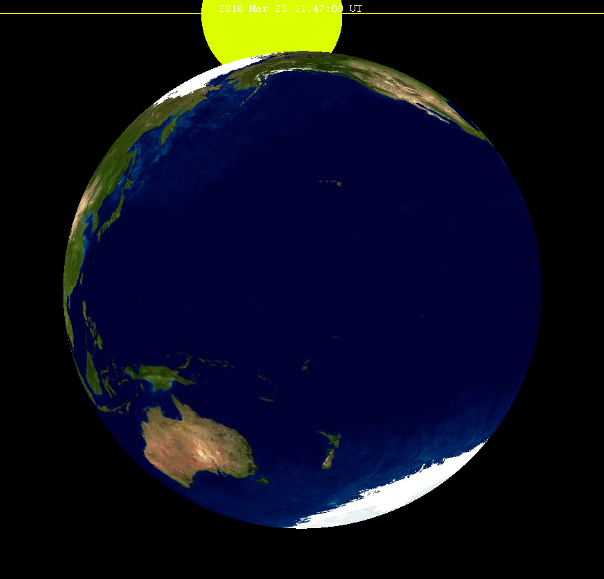 Lunar eclipse from moon-2016Mar23