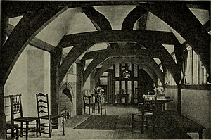 Deanery Garden - The upstairs gallery, 1921