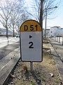 Lyon 9e - Borne kilométrique RD 51 quai Sédallian (fév 2019).jpg