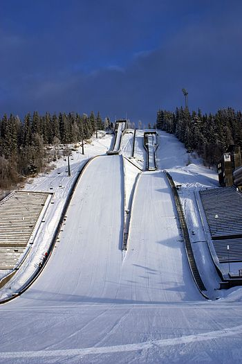 The ski jumping hill Lysgårdsbakken was the ve...