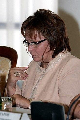 Moskovsky Korrespondent - Image: Lyudmila Putina