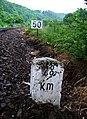 Měchenice, kilometrovník 28 a rychlost 50.jpg