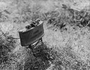 Anti-personnel weapon - When the US M18 Claymore Anti-Personnel-Mine is detonated, it sends out 700 metal balls travelling at high velocity. These balls can kill or seriously injure soldiers in the 100 meter blast radius.