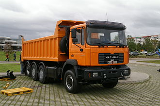 Automotive industry in Belarus - tipper, with the MAN F90 cab