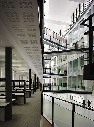 University of Manchester - The atrium inside the £38m Manchester Institute of Biotechnology