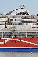 MS Viking Grace, Pernon telakka, Hahdenniemen venesatama, Raisio, 11.8.2012 (2).JPG