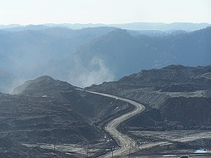 Environmental impact of the coal industry - A mountaintop removal mining operation in the United States