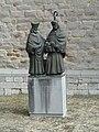 Maastricht-Beeld zuidwesthoek Sint Servaasbasiliek.JPG