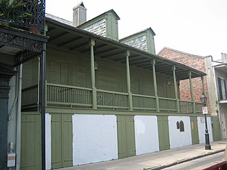 "Buildings and architecture of New Orleans - ""Madame John's Legacy"" was built just after the great fire of 1788, in the older, French colonial style."